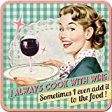 Nostalgic-Art 46121 Say it 50's Cook with Wine