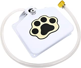 Outdoor dog water dispenser activates dog footsteps Eco-friendly large and small dogs Outdoor automatic water dog fountain...
