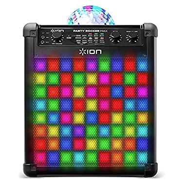 Ion Audio Party Rocker Max | Wireless Rechargeable Speaker with Multi-Effect Party Lights