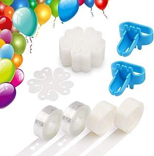 مجموعة شرائط بالونات للتزيين بنفسك من فري واك بتصميم اكليل قوسي بطول 32 قدم، وقطعتين من ربطات البالونات، 200 نقطة لاصقة، 2...