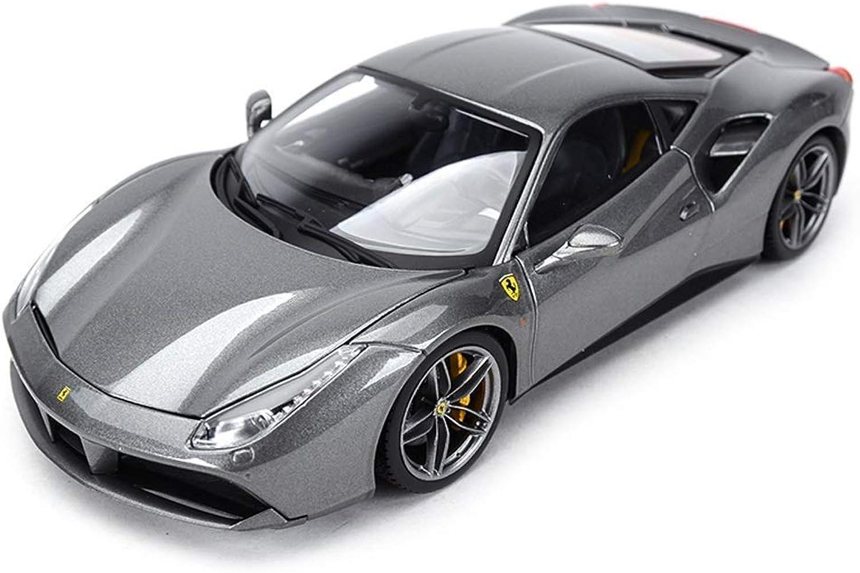 comprar mejor YaPin Model Model Model Coche 1 18 Ferrari 488GTB Modelo de Coche Aleación de Simulación de Metal Modelo Decoración de Regalo Decoración de Regalo 26x11.3x6.2 CM Modelo de Coche  bienvenido a comprar