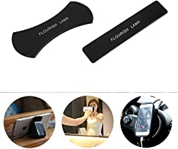 Flourish Lama Nano Rubber Pad Universal Sticker No Trace Multi-Function Mobile Phone Holder Car Kits Car Bracket Pods for Cellphone/iPad/Car 2PC/set