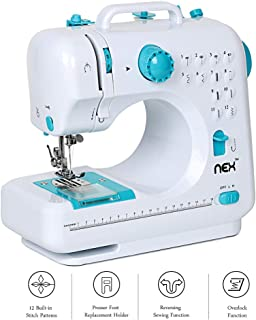 NEX Multi-Function Electric Sewing Machine for Household use Portable Adjustable 2-Speed Double Thread Crafting Mending with Foot Pedal