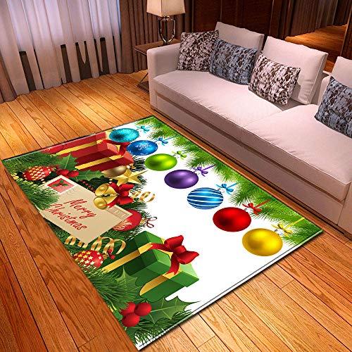 XuJinzisa Área De Feliz Navidad Alfombra De Impresión 3D Sala De Estar Dormitorio Hogar Alfombra De Juego Suave Antideslizante Alfombra Decorativa para El Hogar 60X100Cm H17115