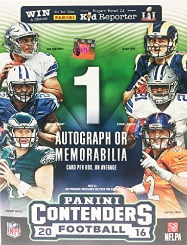 2016 Panini Contenders NFL Football Factory Sealed Retail Box with Autograph or Memorabilia product image