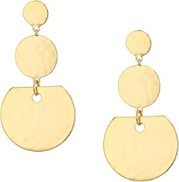 3 Disc Drop Earrings