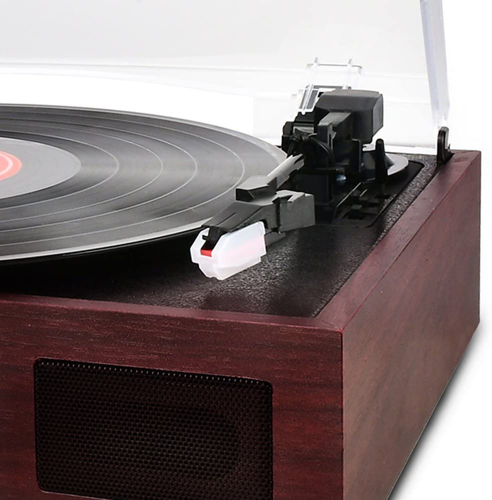 DIGITNOW Wooden 3 Speed Retro Turntable with Built in Dynamic ...