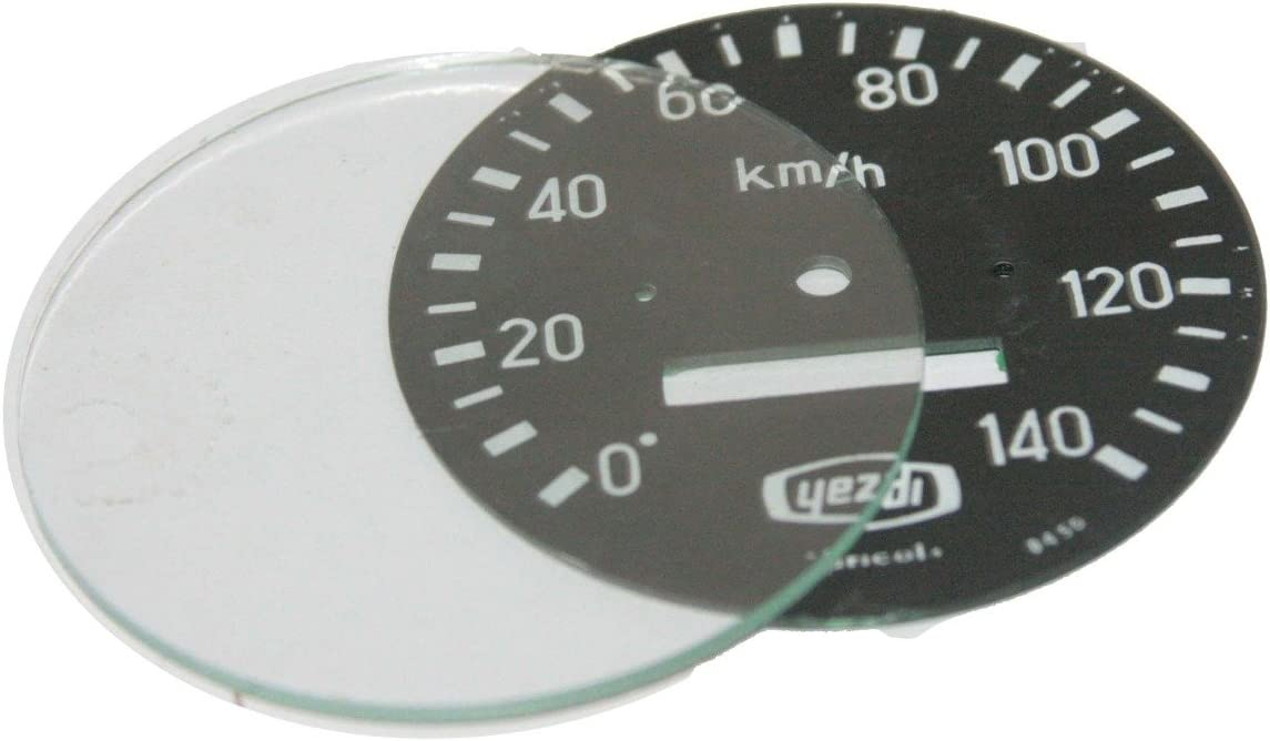 Enfield County Speedometer low-pricing Speedo Reading quality assurance 0-140 w Kph Back Plate