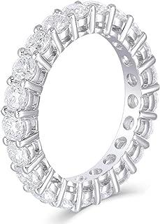 14K White Gold 2-2.5 CTW F Color Moissanite Eternity Engagement Band for Women