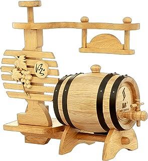 Yuan vinification futs Tonneau à vin en fût de chêne Baril à vin en Bois Massif Tonneau à vin en Forme de Support de Raisi...