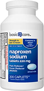 Basic Care Naproxen Sodium Tablets, 300 Count