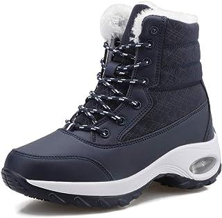 comprar comparacion Mujer Nieve Botas Invierno Algodón Caliente Botas Zapatos Térmicos Forrados de Piel Sintética para Niñas