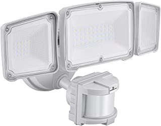 GLORIOUS-LITE 3500LM LED Security Lights, 35W Motion Sensor Light Outdoor, Super Bright 3Head Motion Security Light, IP65 Waterproof, ETL Certified Exterior Flood Light for Garage Yard(NO Solar Power)