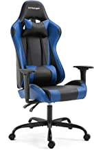 Sedia da Gaming Sedia da Ufficio Girevole con Schienale Alto Stile Racing con Poggiatesta Regolabile e Supporto Lombare (Blu & Nero)