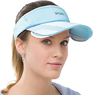 Men Women Sun Protection Sports Visor Hats Summer Wide Brim Adjustable Golf Tennis
