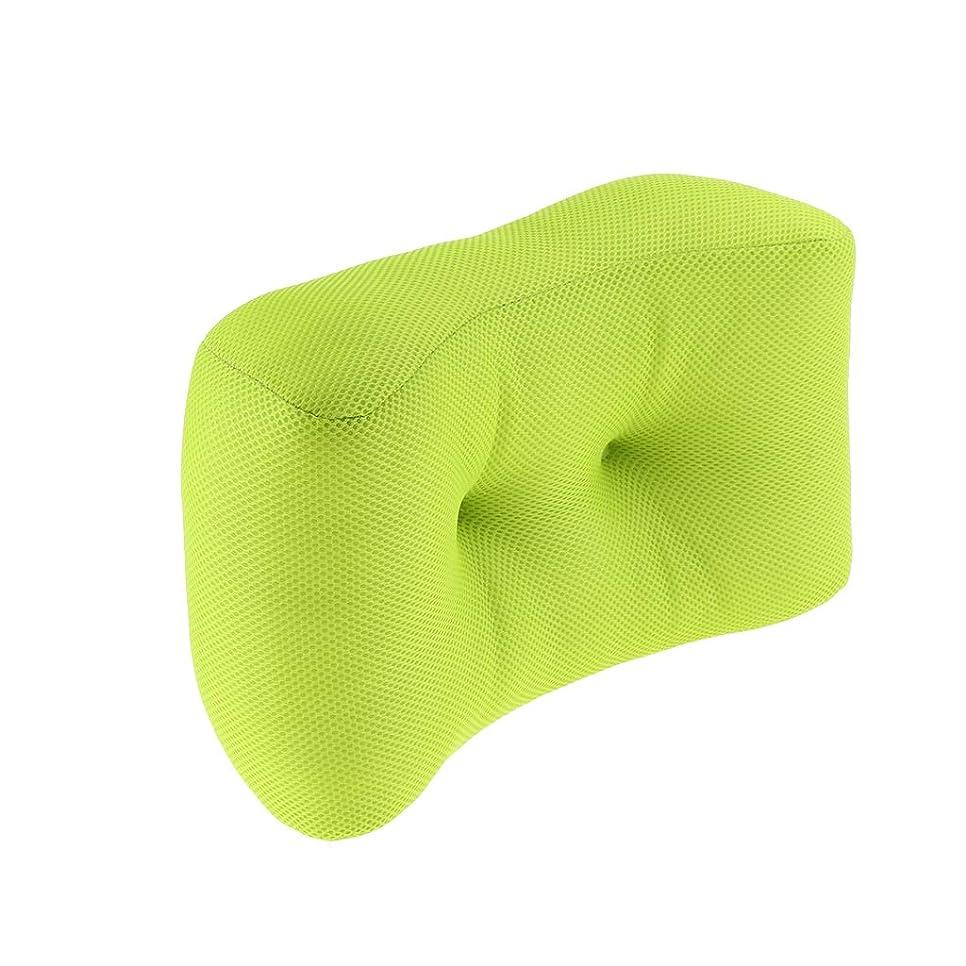 チョコレートエレクトロニック意気込みF Fityle クッション 低反発 使用 腰当て 昼寝枕 ポリエステル 無地 腰当 腰サポート健康クッション 緑