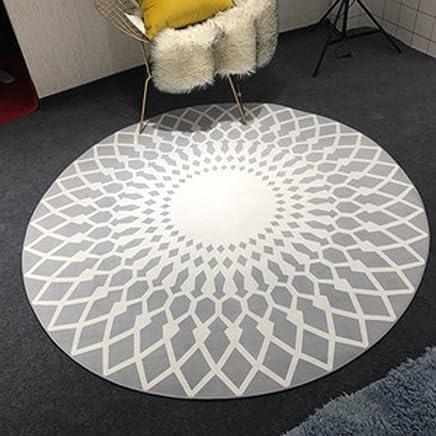 Amazon.fr : tapis rond noir et blanc - Tapis / Décoration de ...