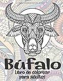 Búfalo - Libro de colorear para adultos