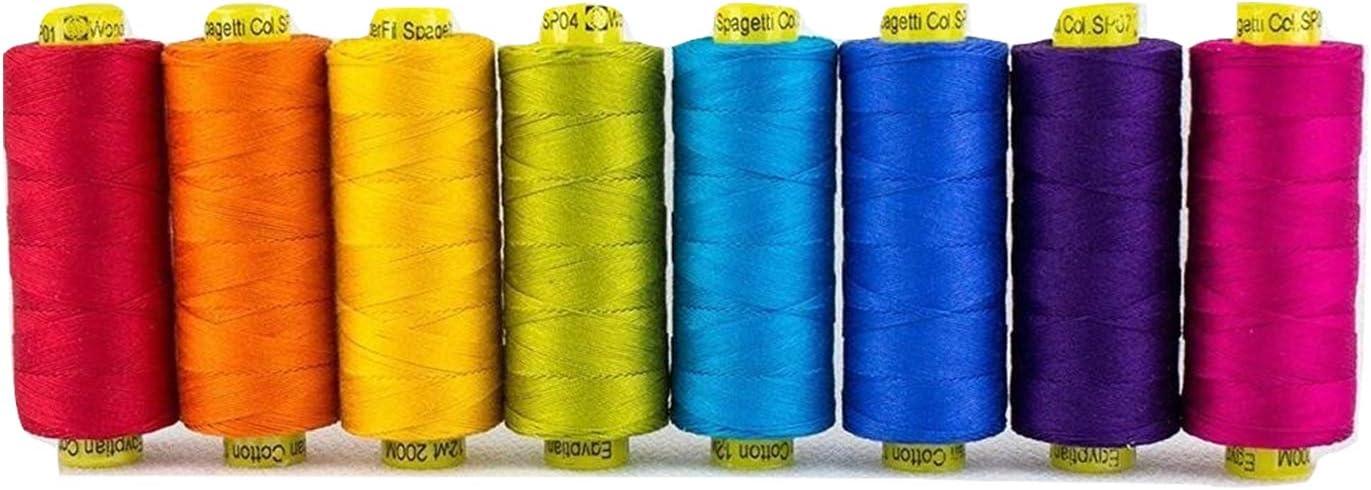 3 ply 1200 yards per spool Fern 100/% Cotton Thread 50 wt