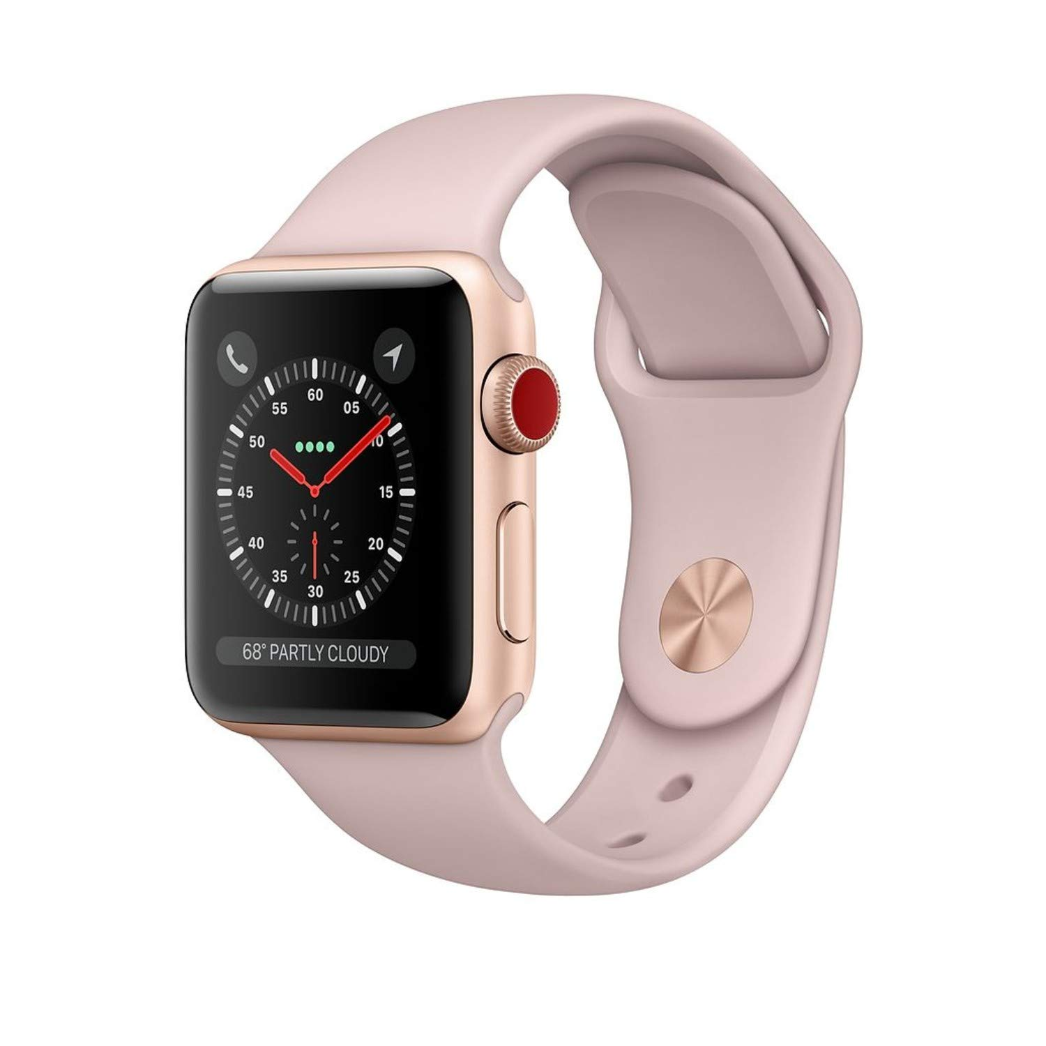 Amazon Com Apple Watch Series 3 Gps Cellular 38mm Gold Aluminum Case With Pink Sand Sport Band Renewed