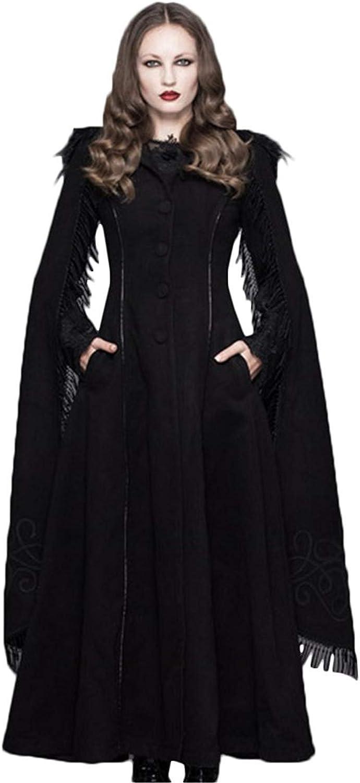 Devil Fashion Women Hooded Cloack Coat Steampunk Elegant Women Long Stage Coats