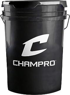 Champro Cubo con Tapa, Negro, 6Gallon