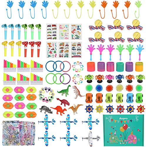 Anpro 138PCS Relleno Piñata a Granel, Juguetes Infantil para Fiestas,Fiesta de Cumpleaños para Niños, Bolsa de Regalo,Premios de Aula