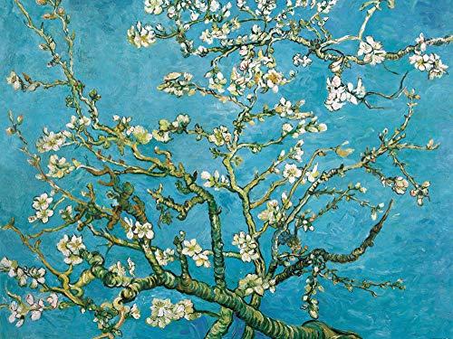 1art1 Vincent Van Gogh - Blühende Mandelbaumzweige, 1890, 2-Teilig Fototapete Poster-Tapete 240 x 180 cm