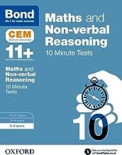 Bond 11+: Maths & Non-verbal Reasoning: CEM 10 Minute Tests: 8-9 years