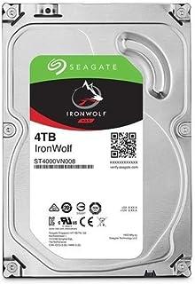Seagate 4TB IronWolf NAS SATA 6Gb/s NCQ 64MB Cache 3.5-Inch Internal Hard Drive (ST4000VN008),Silver