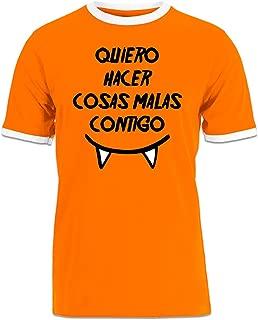 Shirtcity Quiero hacer cosas malas contigo Ringer T-shirt M Multicolored