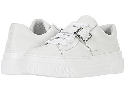 J/Slides Aba (White Leather) Women