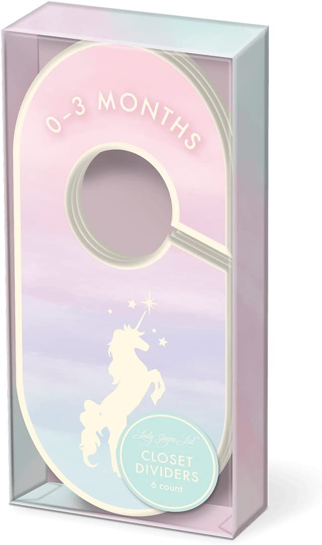 Punch Studio Lady Jayne Baby Nursery Decor Closet Dividers 0-24 Months (Magical Unicorn)