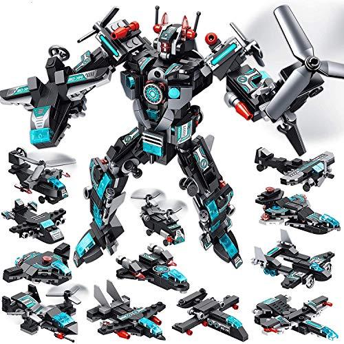 MOONTOY Juguetes Robot Stem 577 PCS Juguetes de construcción para niños de 6 años Bloques de construcción de Combate Espacial Universo 25 en 1 Mejores Regalos para niños de 5 6 7 8 9 10 11 12 añ