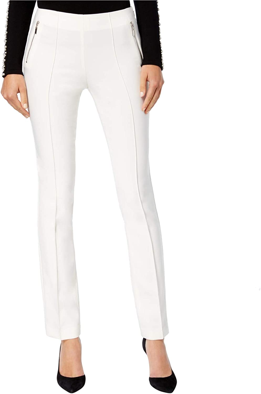 INC Womens CurvyFit Casual Trousers White 18X31