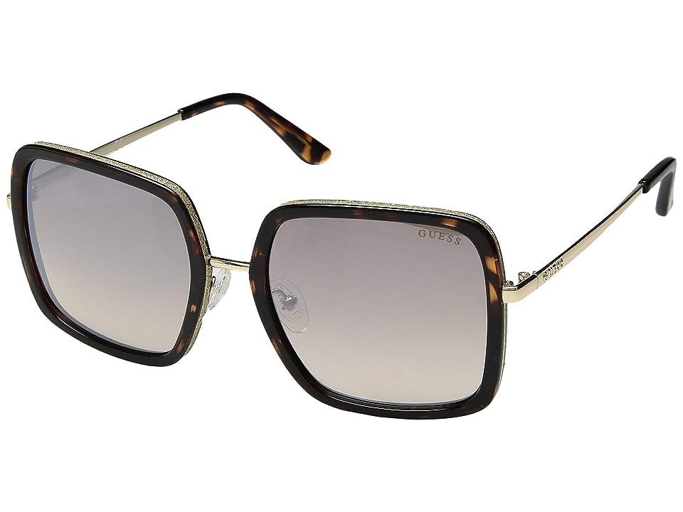 GUESS GU7602 (Dark Tortoise Front/Brown Gradient/Silver Flash Lens) Fashion Sunglasses