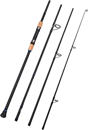 Fiblink 4-Piece Surf Spinning Fishing Rod Portable Carbon...