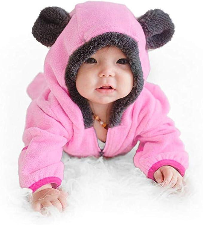 OHQ Baby M/ädchen Kleidung Set Romper Unisex Neugeborenes Baby Strampler Warme Neugeborene Kleidung Schlafstrampler Babyklamotten 2 St/ück S/äugling Lange /Ärmel Spielanzug Hut Outfits Set