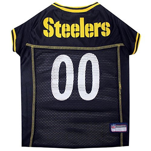 Pets First NFL Pittsburgh Steelers BIG DOG JERSEY, XXX-Large with 1 Licensed NFL Vikings Poop Bag Dispenser & 1 Roll of 15 Waste bags