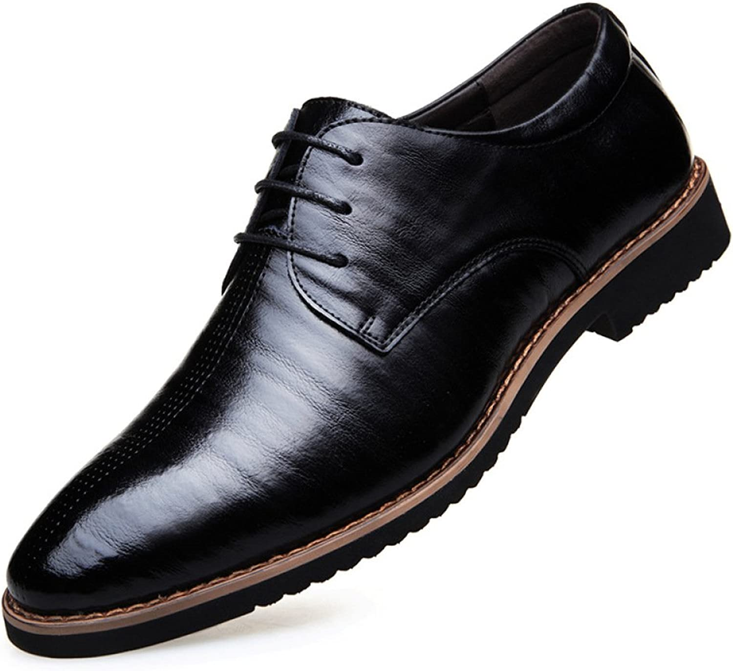 WLFHM Men's Casual Business shoes to Work Dress Leather Men's shoes Wedding shoes