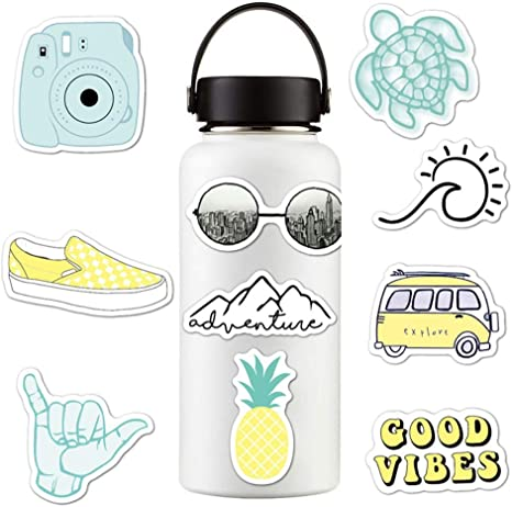 Amazon Com Sunshay Stickers For Water Bottles 10 Pcs Vsco Stickers Trendy Decal Water Bottle Stickers Cute Waterproof And Perfect For Teens Girls Kids Adults Aesthetic Sticker For Laptop Car Phone Kitchen Dining