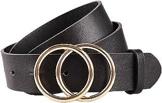 Damen Herren Segeltuchgürtel Doppel D-ringe Rund Ring Schnalle Leinwand Gürtel