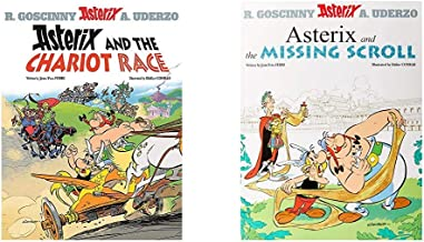 Asterix And The Chariot Race: Album 37+Asterix And The Missing Scroll: Album 36 (Set Of 2 Books)