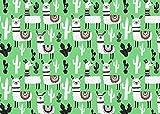 babrause® Kinderstoff Alpaka Grün Baumwollstoff- viele