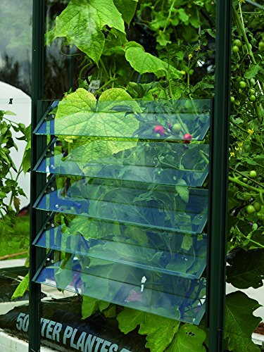 Vitavia Gewächshäuser Gewächshaus-Lamellenfenster mit ESG 61 x 45 cm grün