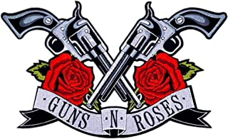 """Guns N' Roses Patch Band Logo XXL 13.8"""" x 8.5"""" Sew on or Iron on Embroidered Patch DIY Applique Badge Decorative (Guns N' Roses Patch)"""
