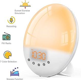 Wake Up Light Despertador Luz, TASMOR Luces Despertador con
