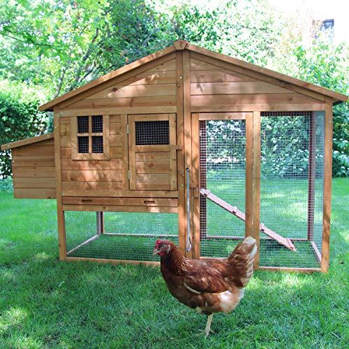 zoo-xxl Hühnerhaus Hühnerstall Hühnervoliere Liese ca. 188 x 70.00 x 117 cm mit Freilauf mit...