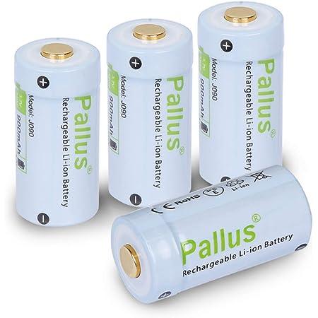 電池 rcr123a 充電池 4本 3.7V 900mAh Pallus バッテリー Arlo カメラ用 充電式電池 大容量 バッテリー Arloカメラ用電池 懐中電灯 デジタルカメラ ビデオカメラ トーチ ベイモニター用 バッテリーケース付き