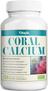 Vitapia Coral Calcium 1000mg - 120 Veggie Capsules - Non-GMO - Promotes Healthy PH Balance - Supports Healthy Bones and He...